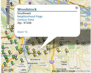 Woodstock Neighborhood Map Portland Oregon Real Estate Information