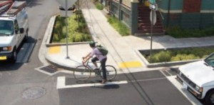 Portland Bicyclists and green streets