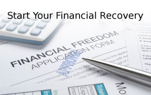 Financial freedom concept with apporoved application pen and calculator