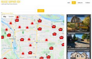 Map Search, Desktop & Tablet View